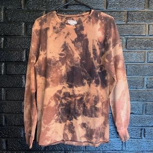Thermal long sleeve top bleached size Medium